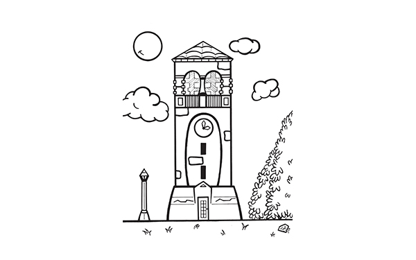 Campanile coloring page