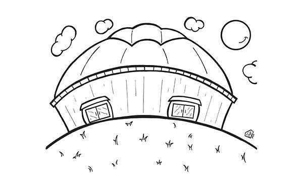 UNI-Dome coloring page