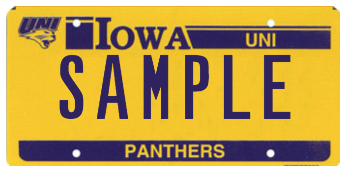 Panther license plate
