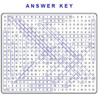 Word Search Answer Key