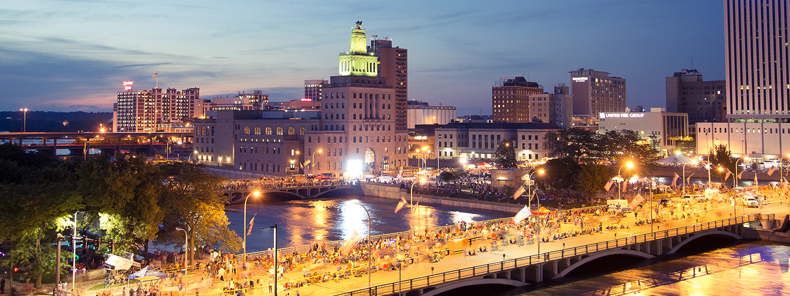 Cedar Rapids-Iowa City skyline