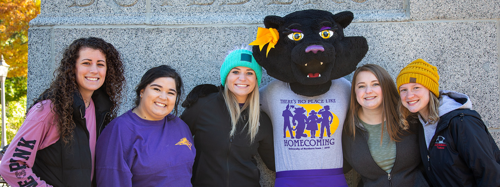 UNI students at homecoming with TK