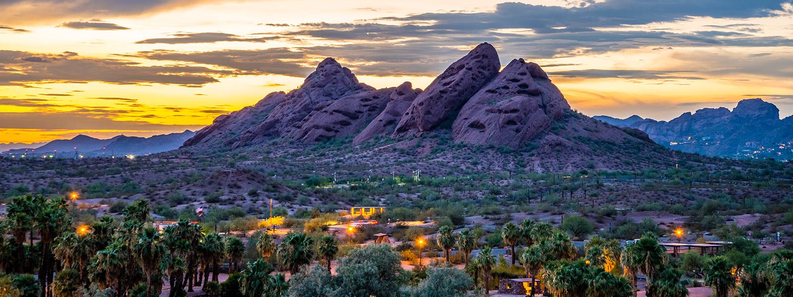 Phoenix desert skyline