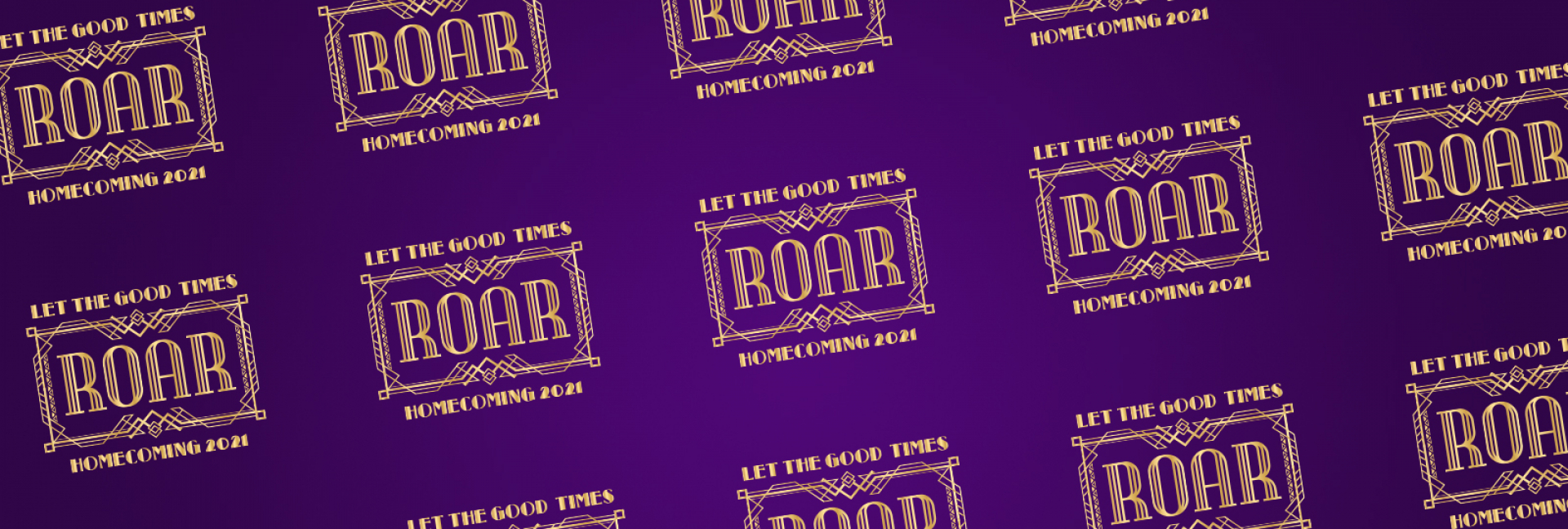 Repeating logo Let the Good Times Roar - Homecoming 2021