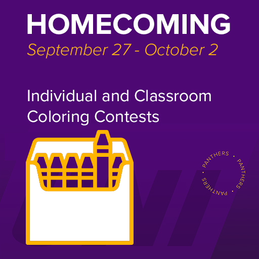 Homecoming, September 27 - October 2, Individual and Classroom Coloring Contests