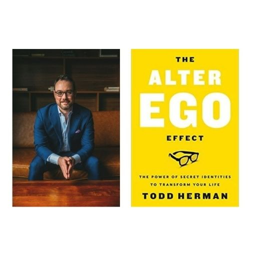 Author Todd Herman with his book The Alter Ego Effect: The Power of Secret Identities to Transform Your Life