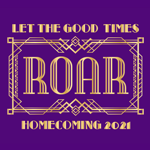 Homecoming 2021 Logo - Let the Good Times Roar