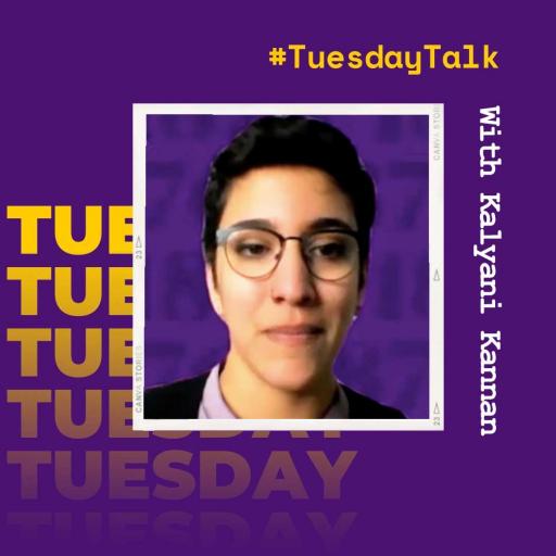 #TuesdayTalk with LGBTQ+ Student Services Coordinator Kalyani Kannan