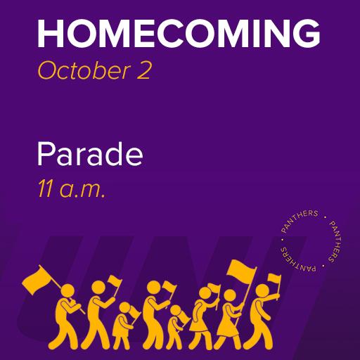 Homecoming Parade, October 2, 11 am