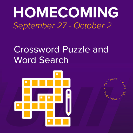 Homecoming, September 27 - October 2, Crossword Puzzle and Word Search