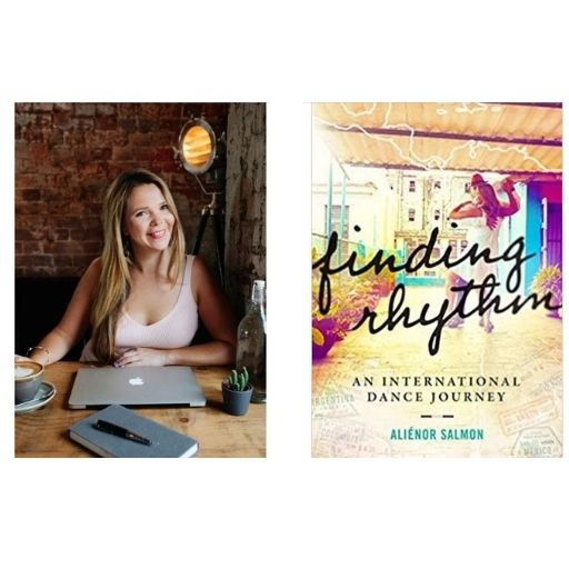 Author Aliénor Salmon with her book Finding Rhythm