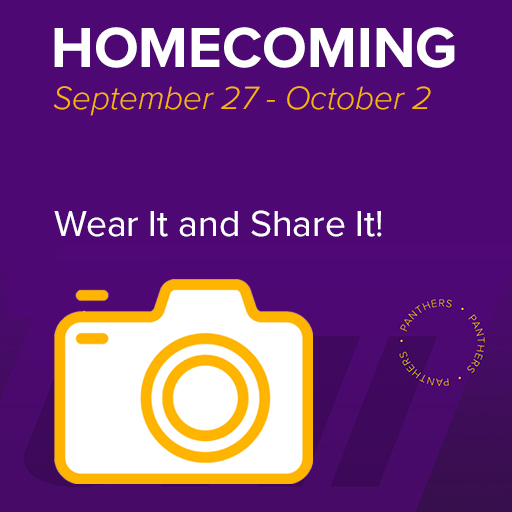 Homecoming, September 27 - October 2, Wear it and Share It!